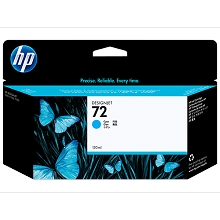 HP 72 Series Cyan 130-ml Designjet Ink Cartridge