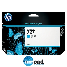 HP 727 130ml Cyan Designjet Ink Cartridge