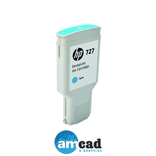 HP 727 300ml Cyan Designjet Ink Cartridge