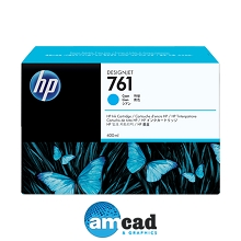 HP 761 400ml Cyan Designjet Ink Cartridge