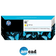 HP 91 775ml Yellow DesignJet Pigment Ink Cartridge