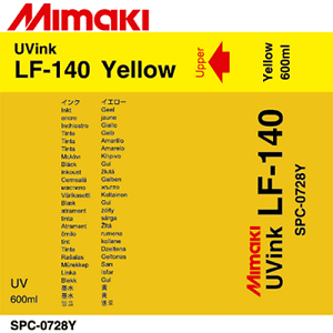 LF-140 UV Curable Ink Pack 600ml Yellow