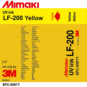 LF-200 UV Curable Ink Pack 600ml Yellow
