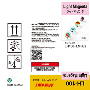 Mimaki LH-100 UV Curable Ink Bottle 250ml Light Magenta