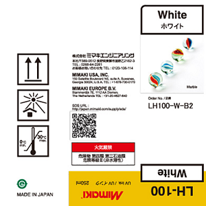Mimaki LH-100 UV Curable Ink Bottle 250ml White