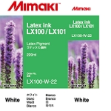 Mimaki LX100/LX101 Latex Ink Cartridge 220ml White