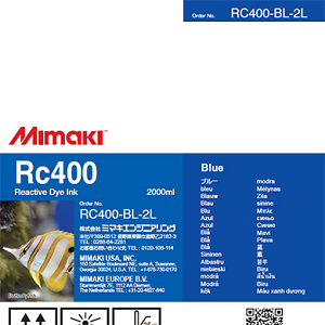 Mimaki RC400 Reactive Dye Ink 2000ml Blue