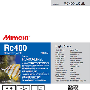 Mimaki RC400 Reactive Dye Ink 2000ml Light Black