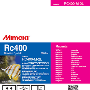 Mimaki RC400 Reactive Dye Ink 2000ml Magenta