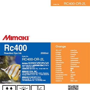 Mimaki RC400 Reactive Dye Ink 2000ml Orange