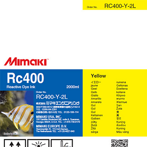Mimaki RC400 Reactive Dye Ink 2000ml Yellow