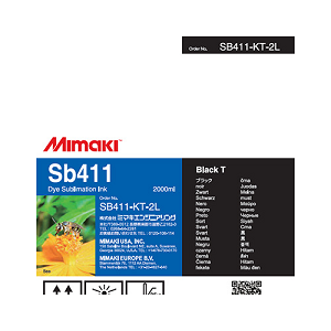 SB411 Dye Sublimation Ink Cartridge 2000ml Black T