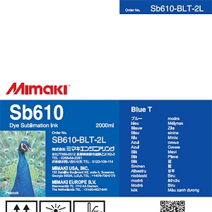 Mimaki SB610 Dye Sublimation Ink Pack 2000ml Blue Transfer