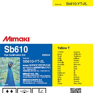 Mimaki SB610 Dye Sublimation Ink Pack 2000ml Yellow Transfer