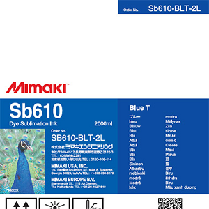 SB610 Dye Sublimation Ink Pack 2000ml Blue Transfer