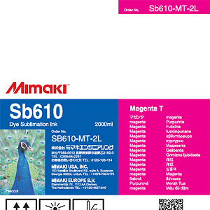 SB610 Dye Sublimation Ink Pack 2000ml Magenta Transfer