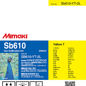SB610 Dye Sublimation Ink Pack 2000ml Yellow Transfer