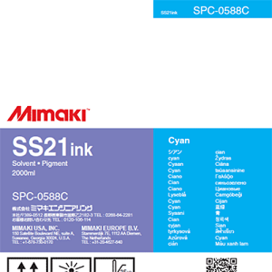 SS21 Solvent Ink Pack 2,000ml Cyan