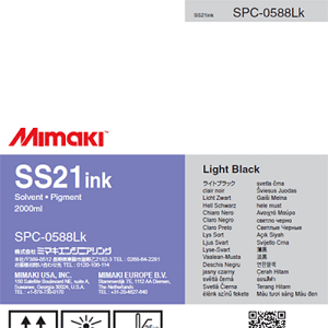 SS21 Solvent Ink Pack 2,000ml Light Black