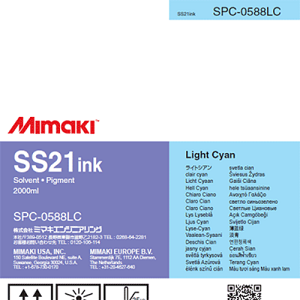 SS21 Solvent Ink Pack 2,000ml Light Cyan