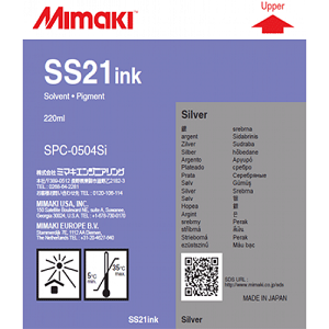 Mimaki SS21 Solvent Ink Cartridge 220ml Silver