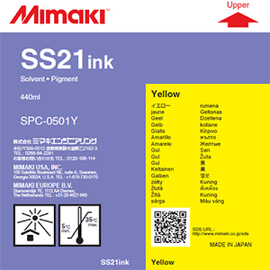 SS21 Solvent Ink Cartridge 440ml Yellow