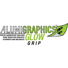 Alumigraphics Glow Grip Interior Floor & Exterior Ground Graphics 26.5 Inches x 10 Feet