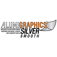 Alumigraphics Silver Smooth Outdoor Wall Graphics 26.5 Inches x 10 Feet