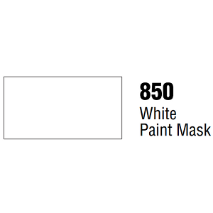 Unpunched 3.4 Mil Matte White Vinyl White Paint Mask Film 48 Inches x 150 Feet