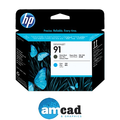 HP 91 Series Matte Black and Cyan Designjet Printhead