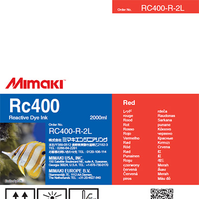 Mimaki RC400 Reactive Dye Ink 2000ml Red