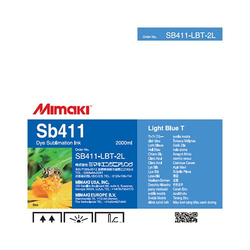 Mimaki SB411 Dye Sublimation Ink Pack 2000ml Light Blue T