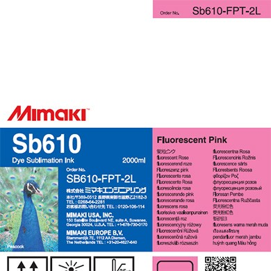 Mimaki SB610 Dye Sublimation Ink Pack 2000ml Fluorescent Pink Transfer