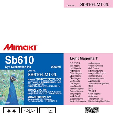 SB610 Dye Sublimation Ink Pack 2000ml Light Magenta Transfer