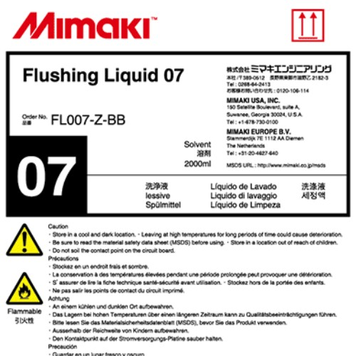 Mimaki Flushing Liquid 07 (2L Bottle)