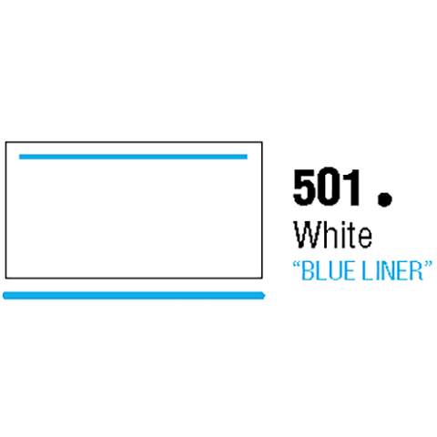 General Formulations 501-30U Unpunched Gloss Vinyl White With Blue Liner 30 Inches x 150 Feet