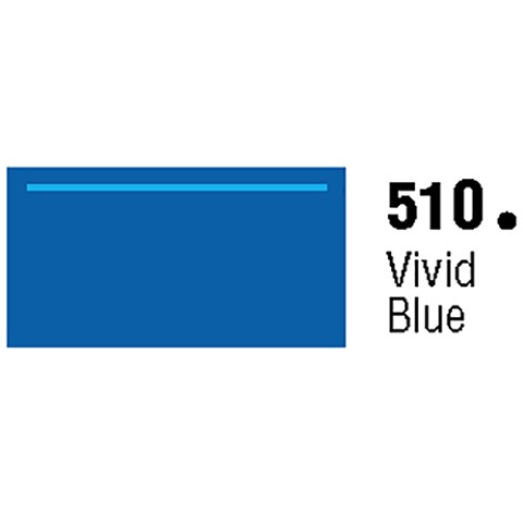 General Formulations 510-48 Unpunched Gloss Vinyl Vivid Blue 48 Inches x 150 Feet