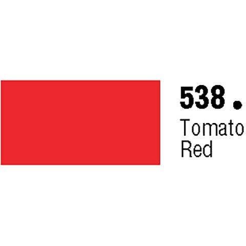 General Formulations 538-48 Unpunched Gloss Vinyl Tomato Red 48 Inches x 150 Feet