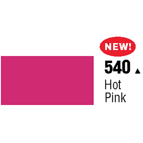 General Formulations 540-48 Unpunched Gloss Vinyl Hot Pink 48 Inches x 150 Feet