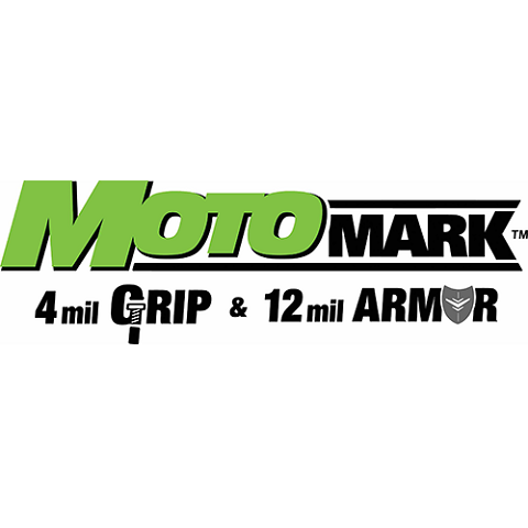General Formulations Concept 235 MotoMark 4.0 Mil Grip Matte White Vinyl - 54 Inches x 150 Feet