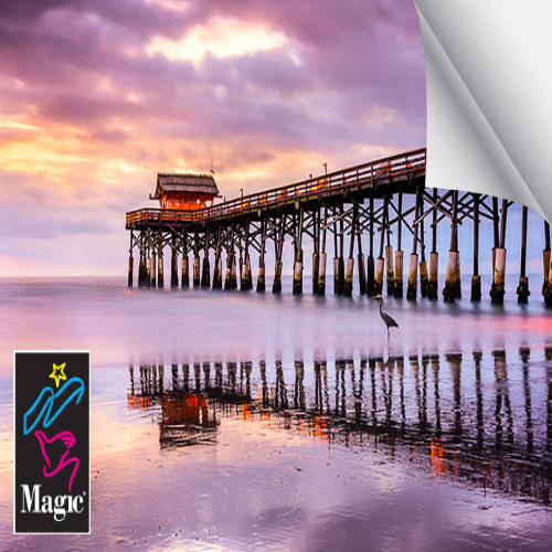 Magic SIENA200GPSA Microporous Adhesive Gloss Photo Paper 8 Mil 60 Inches x 50 Feet