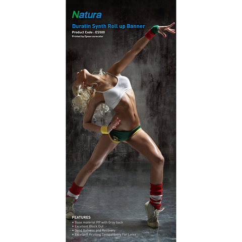 Natura ES500 Duratin Synth Roll Up Banner 170gsm 8.2mil 36 Inches x 100 Feet