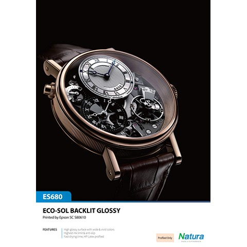 Natura ES680 Eco-Solvent Backlit Glossy 8.4mil 285gsm 60 Inches x 100 Feet