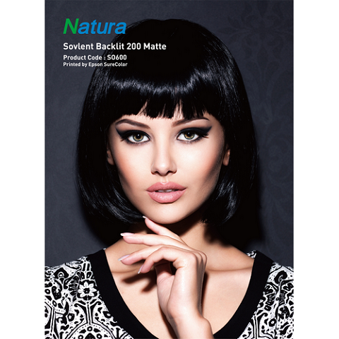 Natura SO600 Solvent Backlit 200 Matte 275gsm 8.2mil 36 Inches x 100 Feet